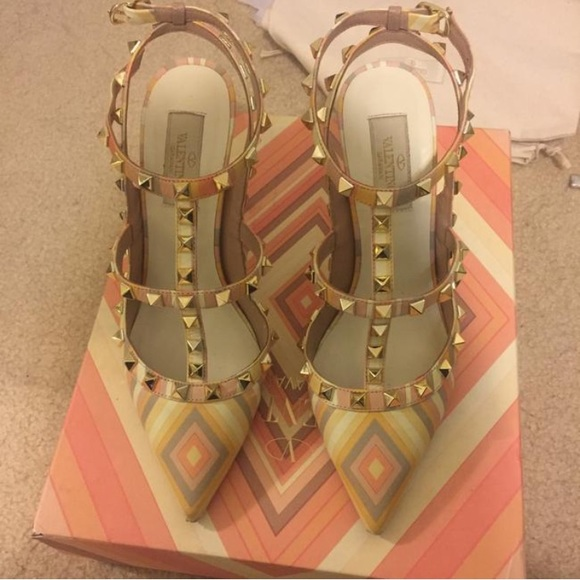Valentino Shoes - Authentic Valentino Rockstud harlequin rock studs